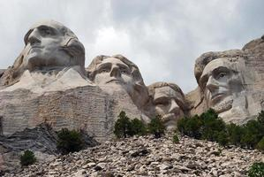 Mt. Rushmore National Memorial closeup