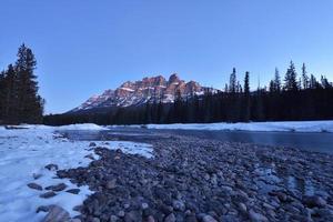 Castle Mountain sunrise, Banff National Park, Canada photo