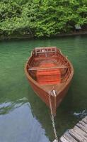 Boat at Plitvice lakes