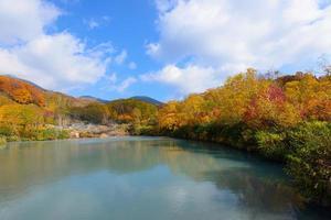 Autumn foliage in Aomori, Japan photo