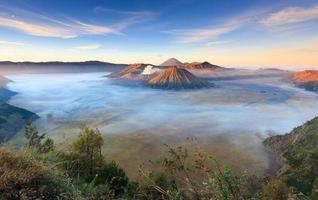 Bromo volcano at sunrise, East Java, Indonesia photo