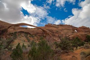 Landscape Arch and Partitions Arch at Arches National Park photo