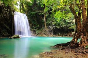 Beautiful Waterfall at Erawan National Park