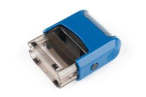 Blue rectangular automatic seal