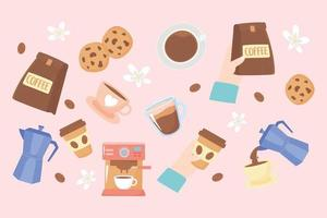 Cute International Coffee Day background vector