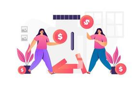 Illustration of money saving concept  vector