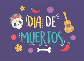 Day of the Dead celebration lettering