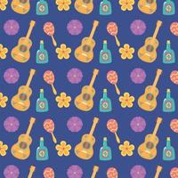 Cute pattern background for Mexican celebration