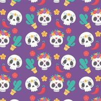 Pattern background for Day of the Dead celebration