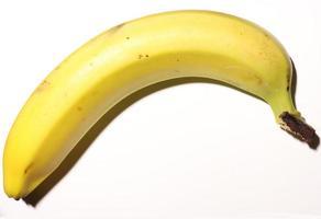Fotografía de plátano aislado para ejemplares alimentarios