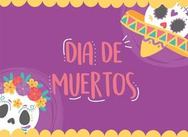 Day of the Dead celebration with sugar skulls vector