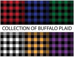 Colorful buffalo plaid seamless patterns