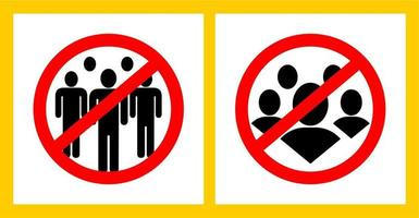 Avoid Crowded Place Sign