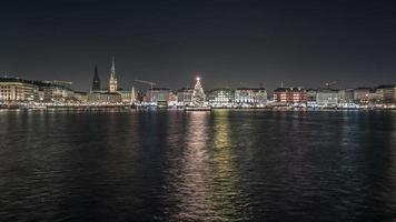 Weihnachten an der Innenalster in Hamburg