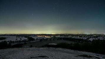 Winter Night sky Time Lapse