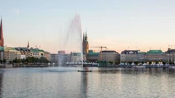 Alster de Hamburgo y la vida nocturna de la ciudad - DSLR Hyperlapse