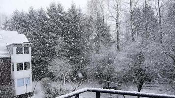 fortes chutes de neige neige effet lac