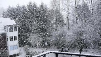 fuertes nevadas nieve efecto lago