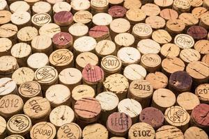 different vintage wine corks