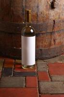 White wine in cellar photo