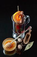 mulled wine with spices and honey