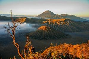 Bromo volcano in Indonesia