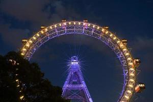 Vienna Giant Wheel At Night