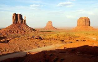 Three Peaks at Monument Valley