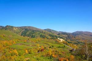 follaje de otoño del monte hachimantai