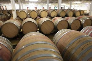 Weinfässer in der Kelterei photo