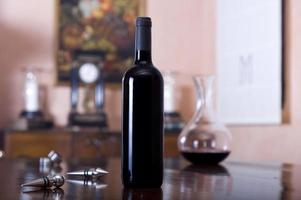 Red wine bottle for labelling