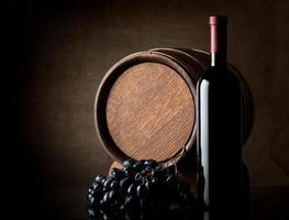 Wine on dark background photo