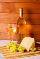 White wine, cheese, grape