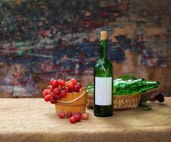 vino uvas frutas foto