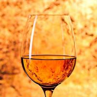 glass with white wine photo