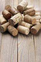 Assorted wine corks photo