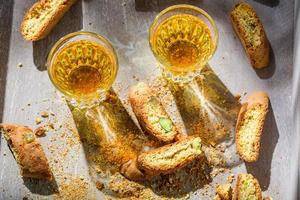 Italian cantucci with Vin Santo