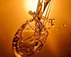 Wine glass splash photo