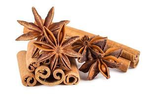 cinnamon sticks and star anise photo