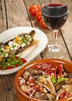 Two tapas with oyster mushrooms photo
