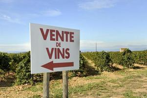 Sign with text: wine sale