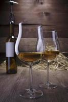 wine glasses and bottles