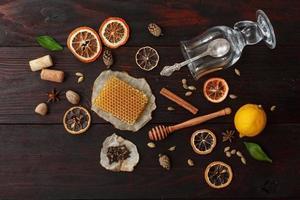 ingredientes para vino caliente foto