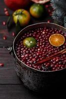 Cranberry mandarin mulled wine