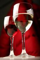 Red & wite wine glases photo