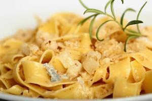 Pappardelle al Gorgonzola. Pasta (Fettuccine) with gorgonzola, p