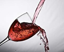 Wine pouring. photo