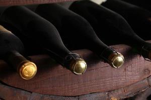 Vintage wine bottles photo
