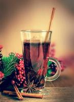 Mulled wine from wine and cinnamon