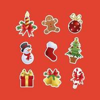 Christmas Eve Celebration Icon Set vector
